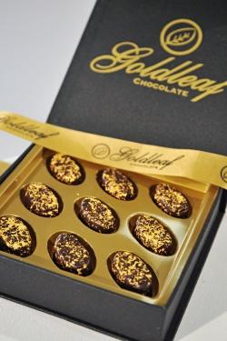 """Neuheitentermin/Novelties: """"Goldschokolade: Echte 25 Karat zum Essen"""" Firma/exhibitor: Linders Bonbons-Goldleaf Chocolate / Halle 2.1"""