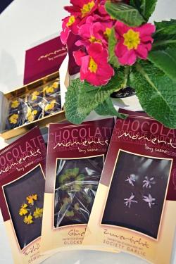 """Neuheitentermin/Novelties: """"Schokolade mit echten Blüten"""" Firma/exhibitor: Sabine Kobler / Halle 10.2"""