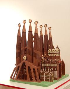 Sargrada Familia aus Schokolade © Gerhard Petzl