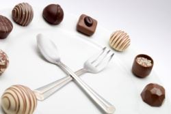 Schokoladen-Uhr