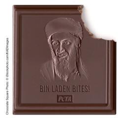 Bin Laden Bites Schokolade PETA